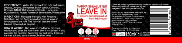 4h SSB14E520 5060491941867 Queen Vans Leave In Maripa Sheabutter 150ml 185mmx40mm RGB 1200px